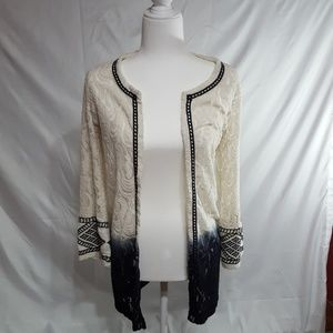 BKE Gimmiks lace cardigan.  Small